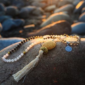 Full Moon Mala hand crafted by Jennifer at Tula Rashi Designs