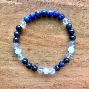 Starry Sky wrist mala from the Celestial Collection