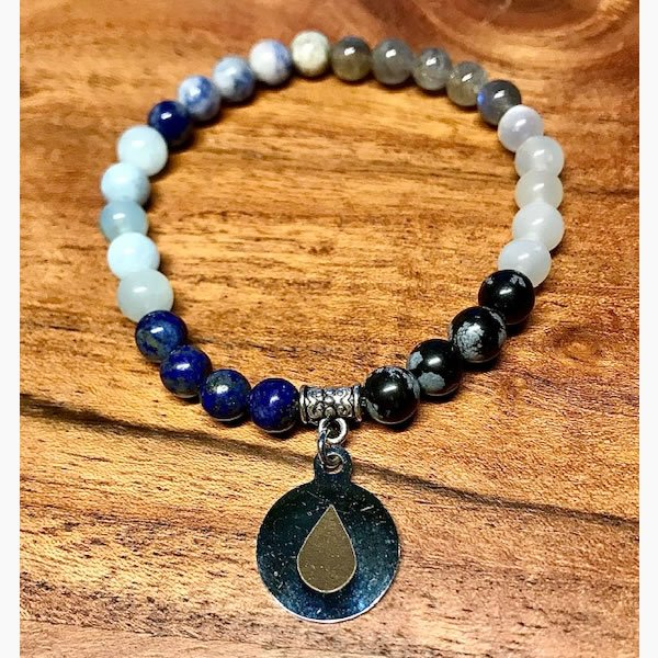 Water Mala Beaded Bracelet - The Elements Collection