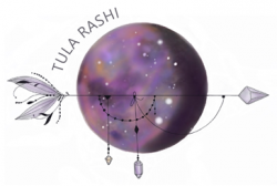 Tula Rashi Designs logo, custom mala necklaces and bracelets